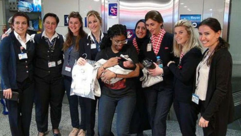 PHOTO: A Nashville woman gave birth in Istanbul, Turkey on a layover to Germany.