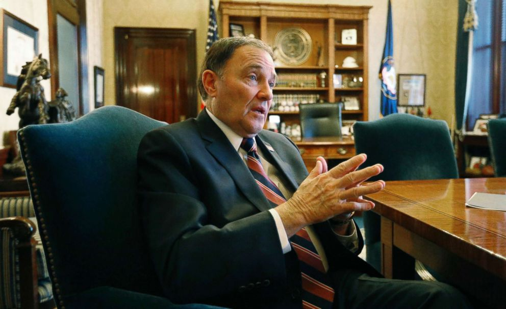 PHOTO: Utah Gov. Gary Herbert speaks during an interview at the Utah state Capitol, in Salt Lake City on March 8, 2018.