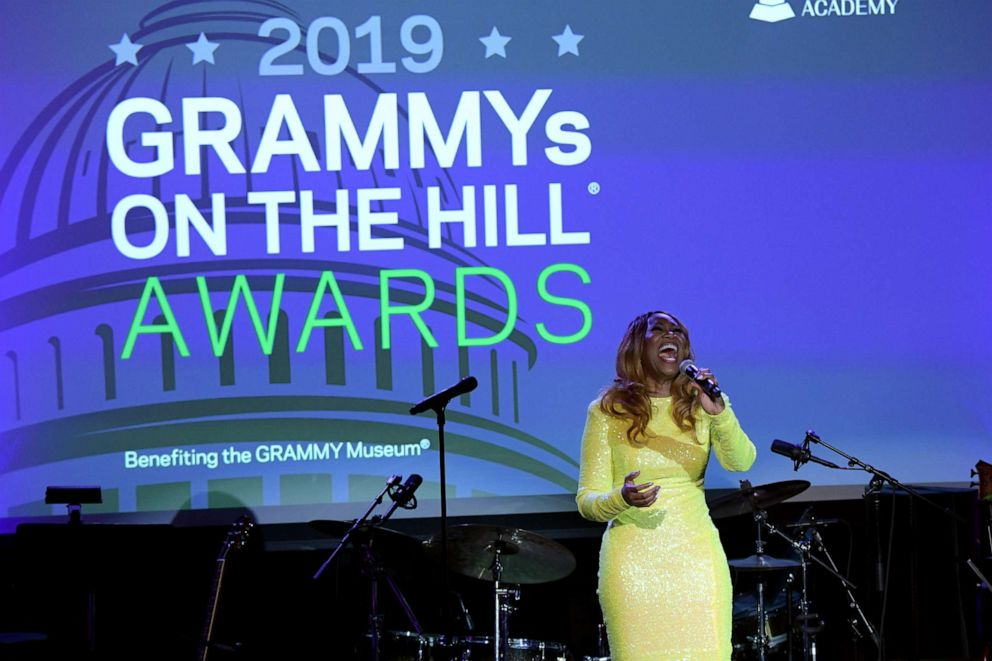 PHOTO:Yolanda Adams performs onstage during GRAMMYs on the Hill 2019, April 9, 2019, in Washington, D.C.