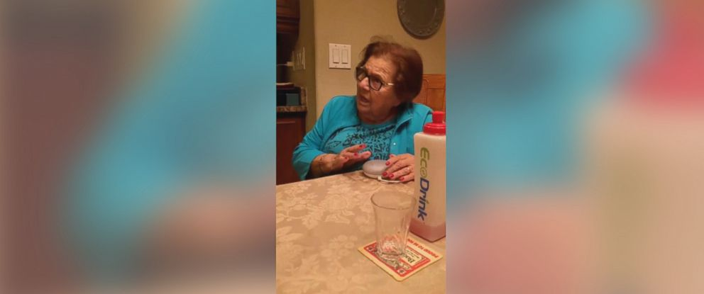 PHOTO: A grandmother has a hilarious reaction to hearing her Google Home for the first time.