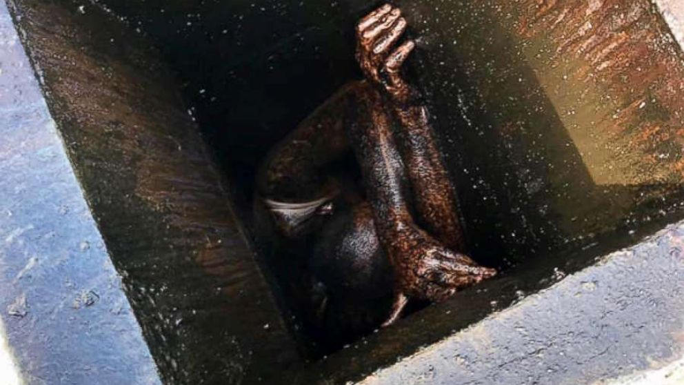 First responders freed a man stuck in a grease vent for two days in San Lorenzo, California.