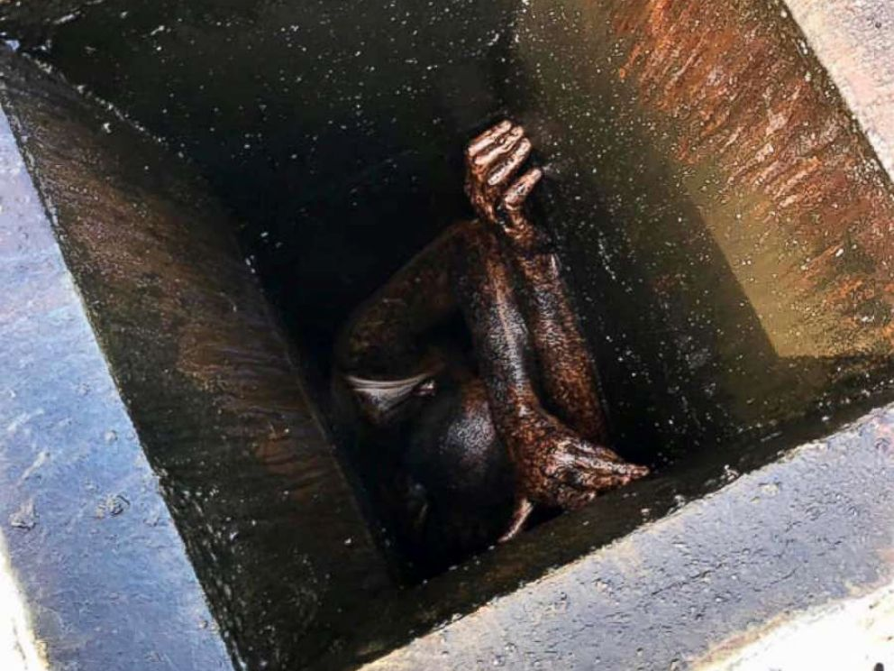 PHOTO: First responders freed a man stuck in a grease vent for two days in San Lorenzo, California.