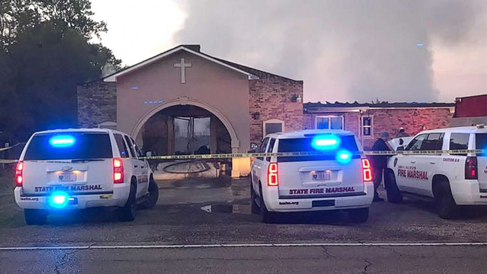 Greater Union Baptist Church, pictured here, is part of an ongoing investigation into a series of church fires in Louisiana.