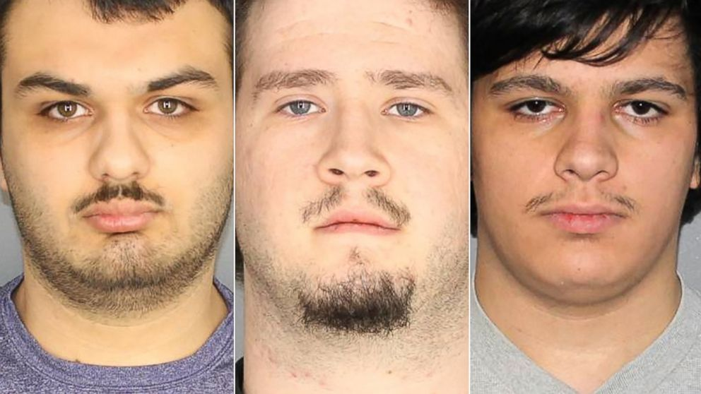 Vincent Vetromile, Brian Colaneri and Andrew Crysel in police handout photos.