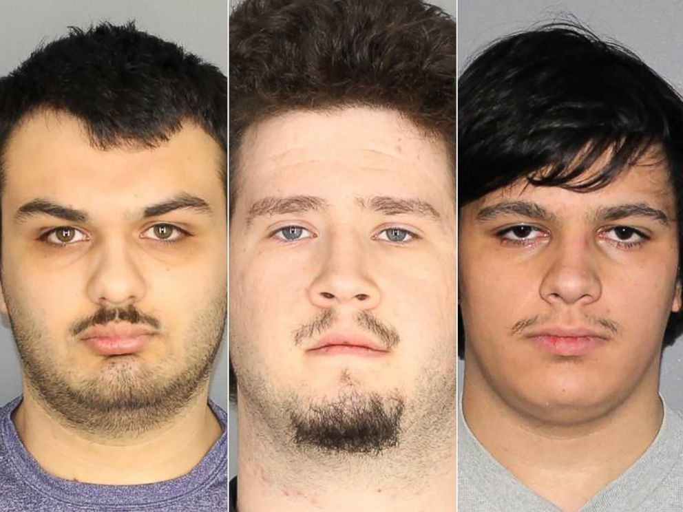 PHOTO: Vincent Vetromile, Brian Colaneri and Andrew Crysel in police handout photos.