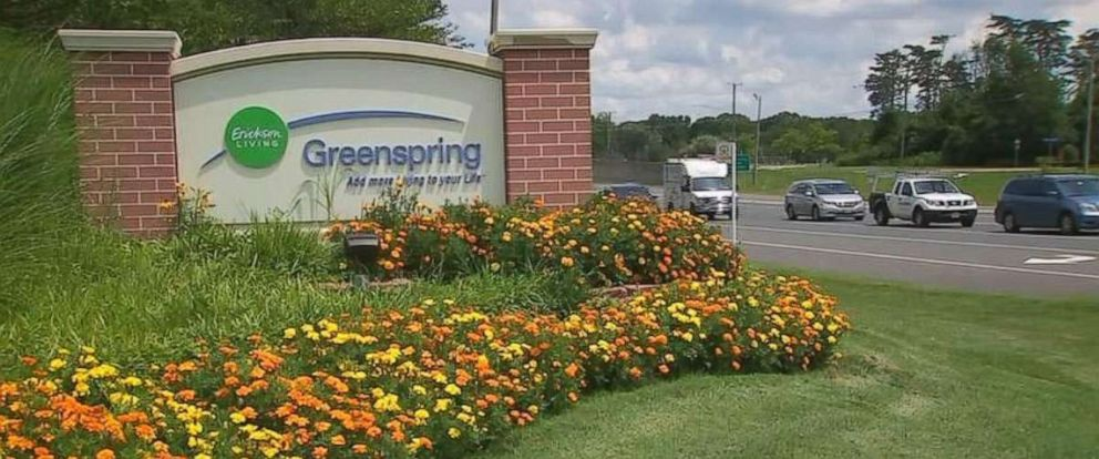 PHOTO: The sign for Greenspring Retirement Community is shown in Springfield, Virgina.