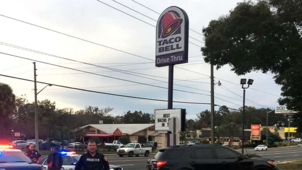 The Ocala Police Department removed an authentic WWII hand grenade from a Taco Bell in Ocala, Fla., Jan. 26, 2019.