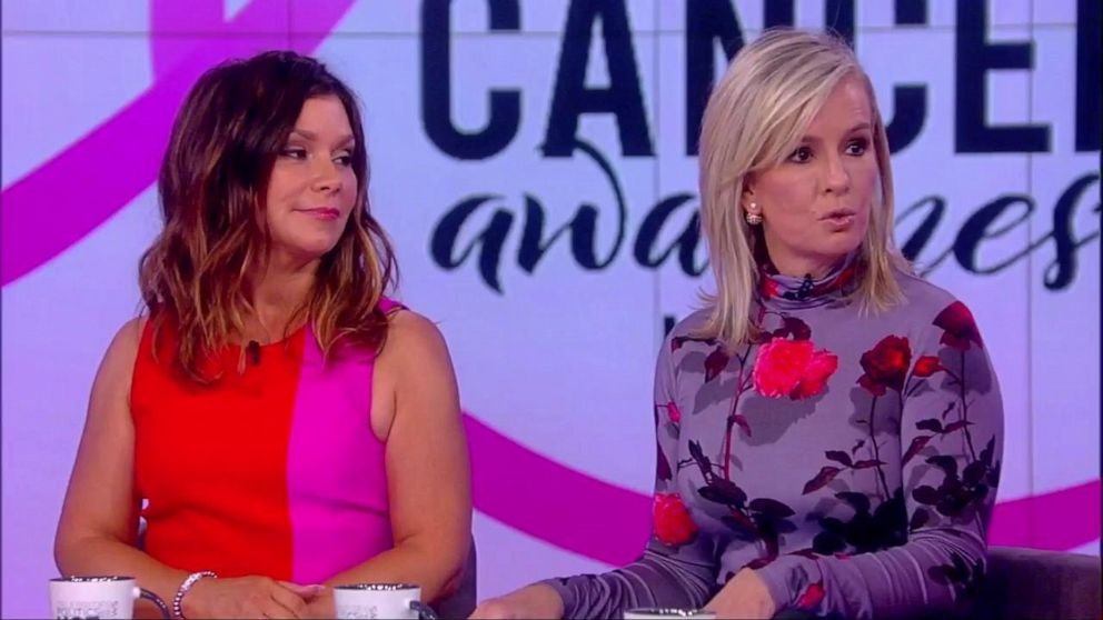 PHOTO: Lifestyle expert on The View Gretta Monahan opened up about her breast cancer diagnosis on the show Friday and was joined by ABC News Chief Medical Correspondent Dr. Jen Ashton.