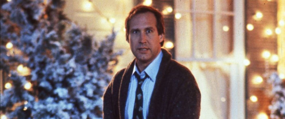 """PHOTO: Chevy Chase as Clark Griswold in """"National Lampoons Christmas Vacation,"""" 1989."""