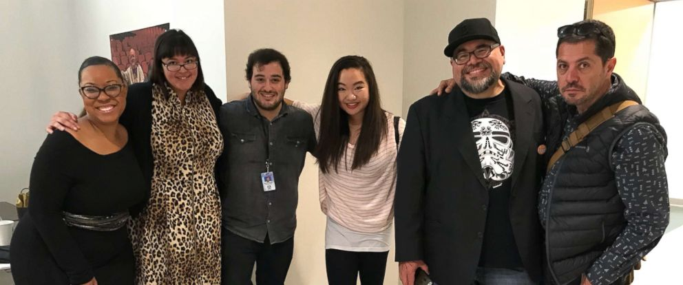 PHOTO: From left, Ber-Henda Williams, Jeni De La O, Eddie Guzman, Jiyong Pak, Gil Guevara, Adolfo Campoy-Cubillo at Oakland University near Detroit, Oct. 12, 2017.
