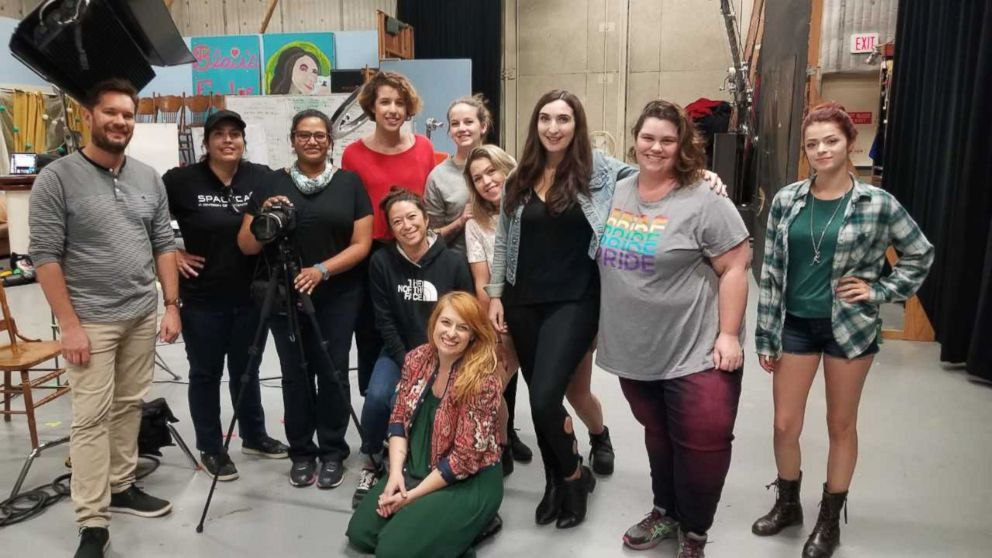 PHOTO: The crew and participants during the filming of I am Christine Blasey Ford, Oct. 21st, 2018.