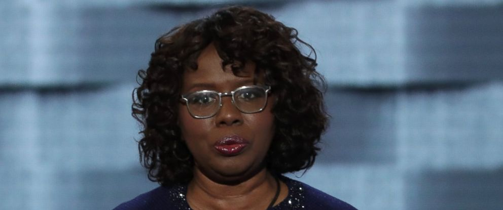 PHOTO: Felicia Sanders, a survivor of the Emanuel AME shooting, speaks on the third day of the Democratic National Convention at the Wells Fargo Center, July 27, 2016, in Philadelphia.