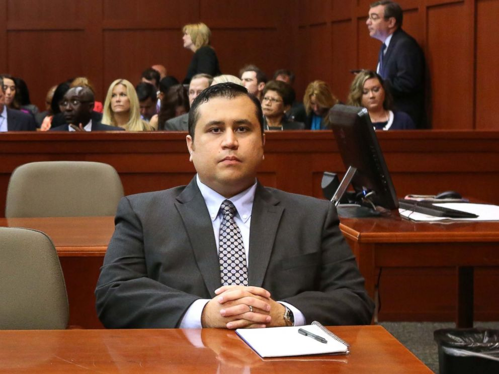 PHOTO: George Zimmerman waits for his defense counsel to arrive in Seminole circuit court, on the 11th day of his murder trial in the 2012 death of Trayvon Martin, June 24, 2013 in Sanford, Fla.