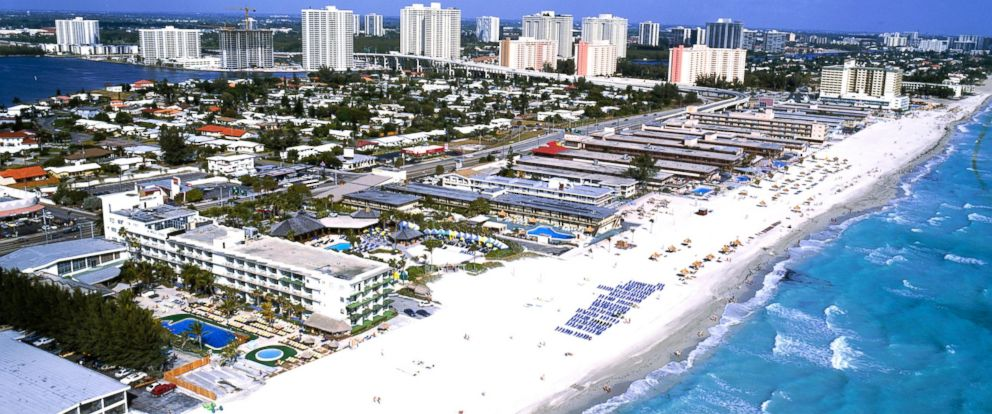 PHOTO: An aerial view of Hollywood Beach, Florida appears in this undated photo.