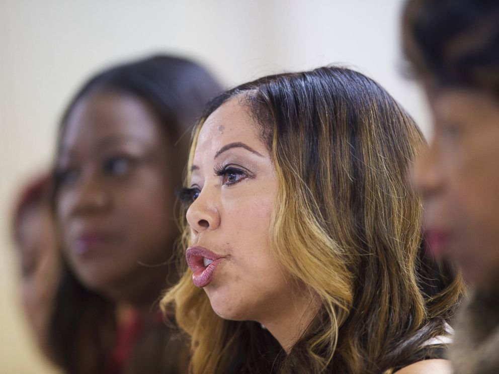 PHOTO: Lucy McBath, mother of Jordan Davis, who was killed by a man who claimed self-defense but was later found guilty of murder, speaks at the Mt. Zion Missionary Baptist Church in Sumter, S.C., Feb. 22, 2016