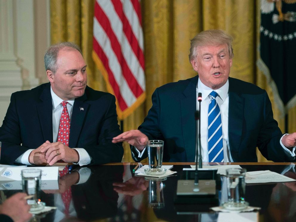 PHOTO: Rep. Steve Scalise during a March 7, 2017 meeting with President Donald Trump at the White House in Washington, D.C.