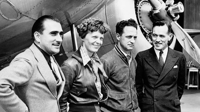 PHOTO: Amelia Earhart, Paul Mantz, Harry Manning and Fred Noonan