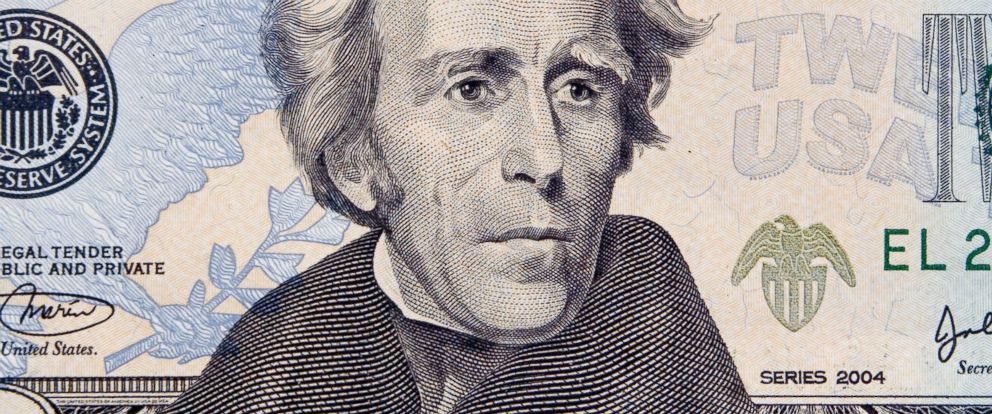 PHOTO: Andrew Jackson is pictured on the front of a $20 bill.