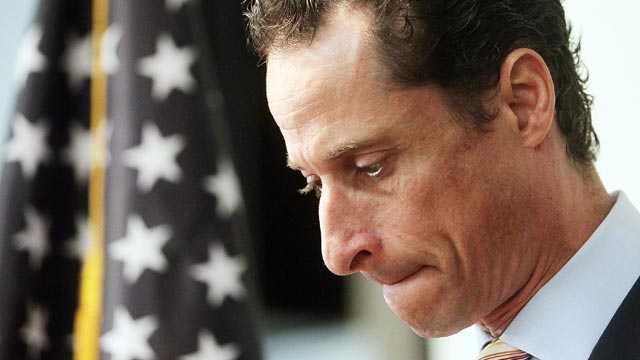 PHOTO: Rep. Anthony Weiner (D-NY) announces his resignation, June 16, 2011 in the Brooklyn borough of New York City.