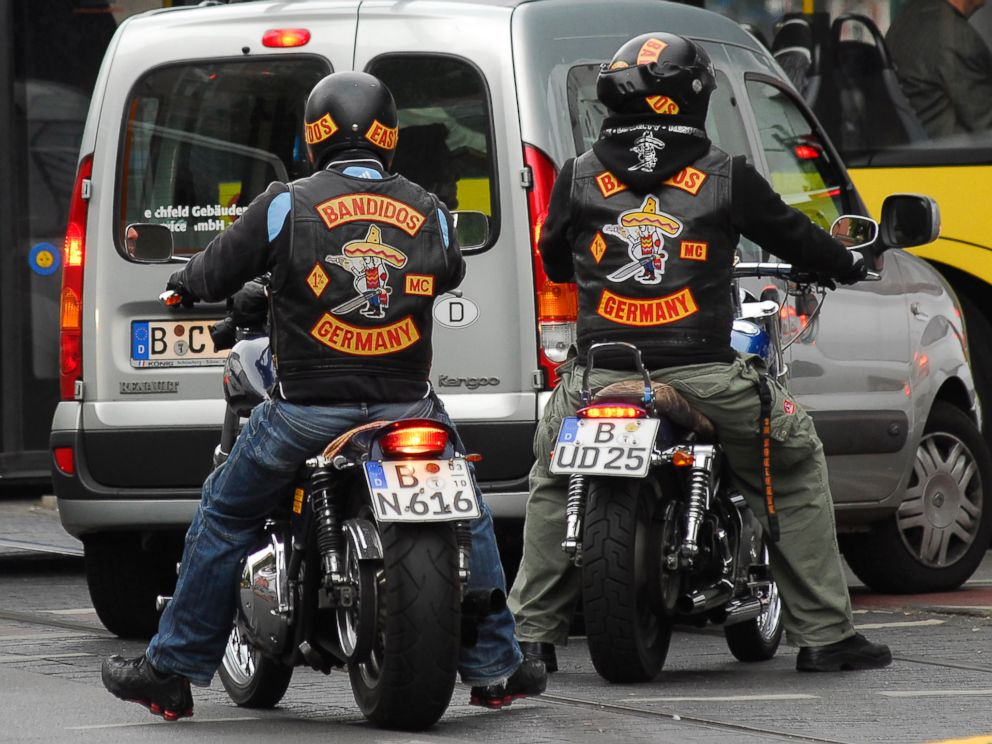 PHOTO: Members of the Bandidos Motorcycle Club are seen in Berlin, May 30, 2009.