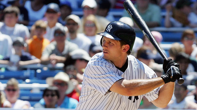 PHOTO: Bubba Crosby #19 of the New York Yankees bats against the Chicago White Sox, July 16, 2006 at Yankee Stadium in the Bronx borough of New York City.