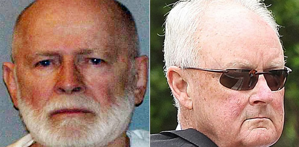 PHOTO: Corrupt FBI agent, John Morris (right), who was once bribed by Whitey Bulger (left) is testifying against Bulger in U.S. District Court on June 28, 2013 in Boston.