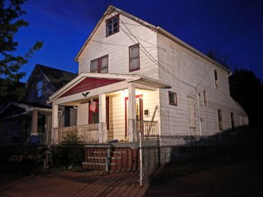 PHOTO: In the house Gina DeJesus, Amanda Berry and Michelle Knight were held captive at Ariel Castros Cleveland home pictured here.