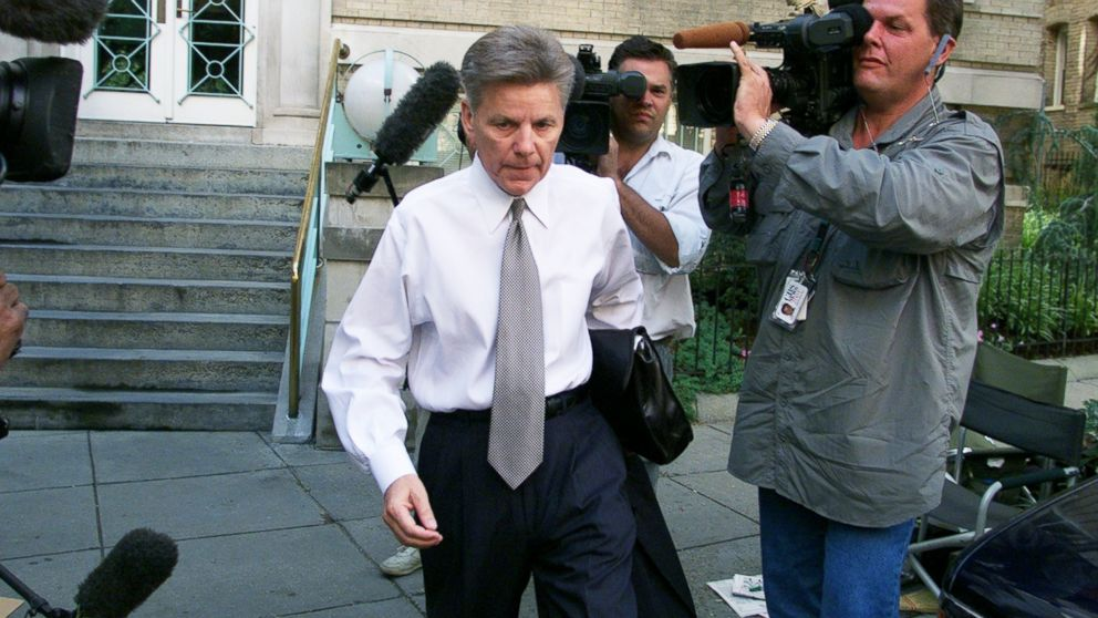 Rep. Gary Condit leaves his Washington home, July 10, 2001.
