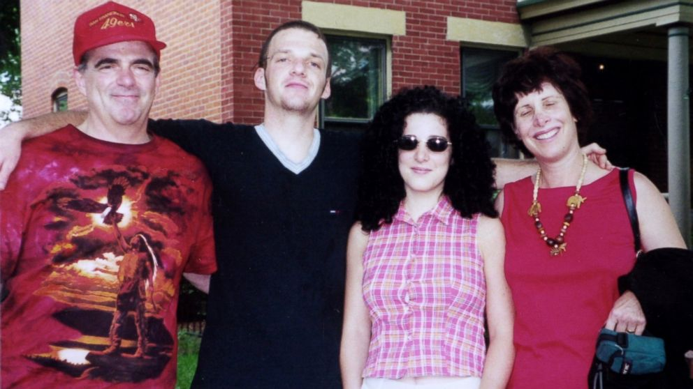 Missing Washington intern Chandra Levy (2R) with her mother Susan (R), father Robert (L) and brother Adam (2L).