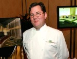 PHOTO: Chef Charlie Trotter prepares a dish for a press conference at The Grand Opening weekend of The Palazzo Resort Hotel Casino on January 18, 2008 in Las Vegas.