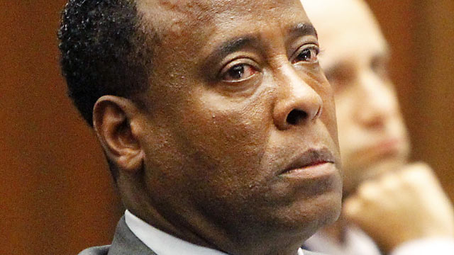 PHOTO: Conrad Murray listens to testimony during his involuntary manslaughter trial, in Los Angeles, in this Sept. 28, 2011 file photo.