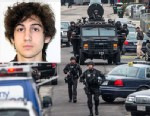 PHOTO:SWAT teams moved into position in Watertown in Boston, April 19, 2013, while searching for Dzhokhar Tsarnaev, one of the two marathon bombing suspects.