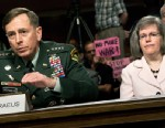PHOTO: Gen. David Petraeus, left, and his wife Holly Petraeus are shown on Capitol Hill, June 29, 2010 in Washington, DC.