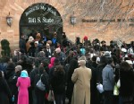 PHOTO: An overflow crowd stands outside the Greater Harvest M.B. Church during the funeral of 15-year-old Hadiya Pendleton on Feb. 9, 2013 in Chicago.