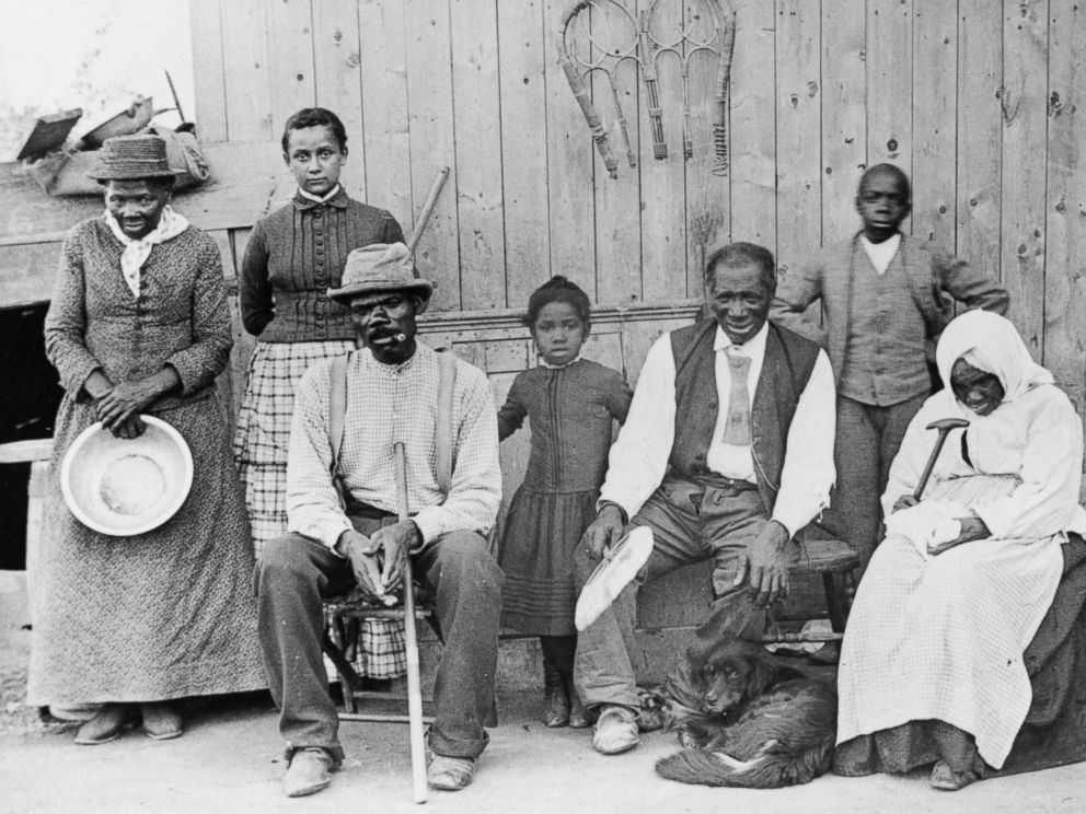 PHOTO: Abolitionist leader Harriet Tubman, far left, is pictured with friends and associates at the Auburn Home for the Aged and Indigent Negros, circa 1887.