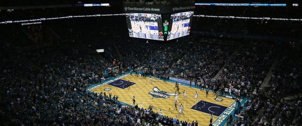 PHOTO: An NBA playoff game is played in the Time Warner Cable Arena on April 29, 2016 in Charlotte, North Carolina.