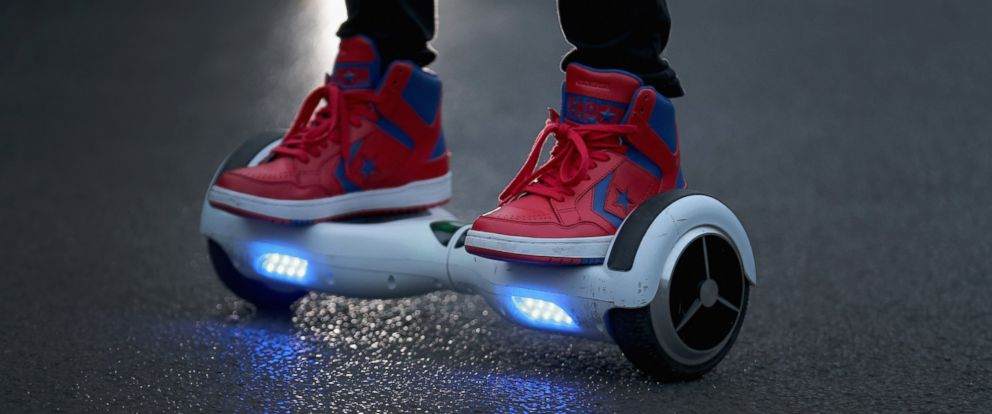 PHOTO: A youth rides a hoverboard on Oct. 13, 2015 in Knutsford, England.