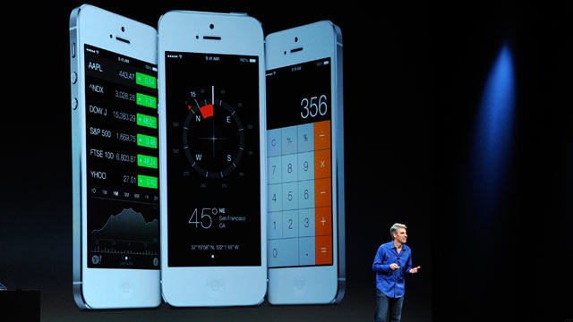 PHOTO: Craig Federighi, vice president of software engineering at Apple Inc., speaks during the keynote of the World Wide Developers Conference (WWDC) in San Francisco, June 10, 2013.