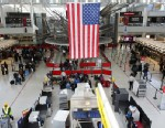 PHOTO: People wait in a security line at John F. Kennedy Airport on Feb. 28, 2013 in New York City.