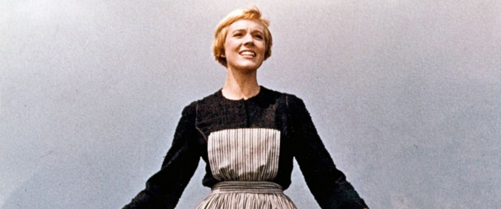 "PHOTO: Actress Julie Andrews performs musical number in the movie ""The Sound Of Music"" directed by Robert Wise."