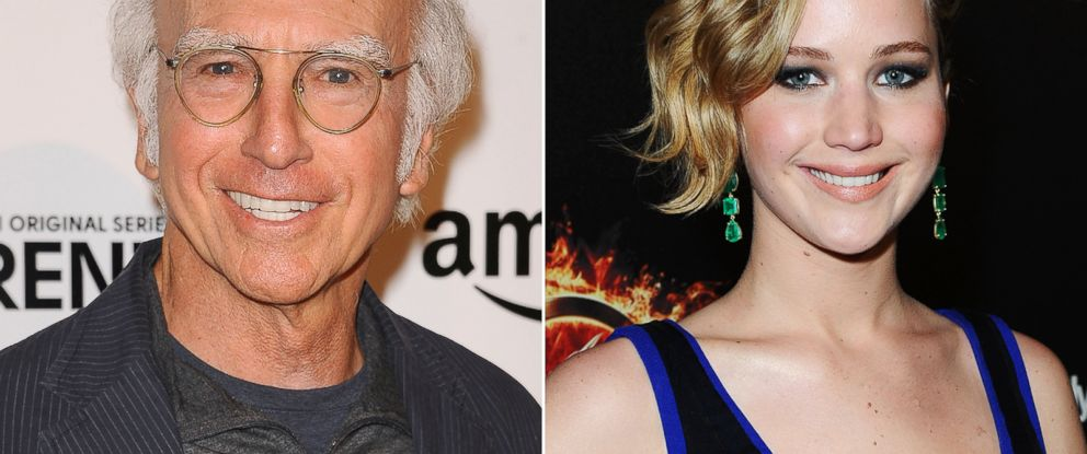 PHOTO: Larry David, seen left in this Sept. 15, 2014 file photo, and Jennifer Lawrence, seen right in this May 17, 2014 file photo.