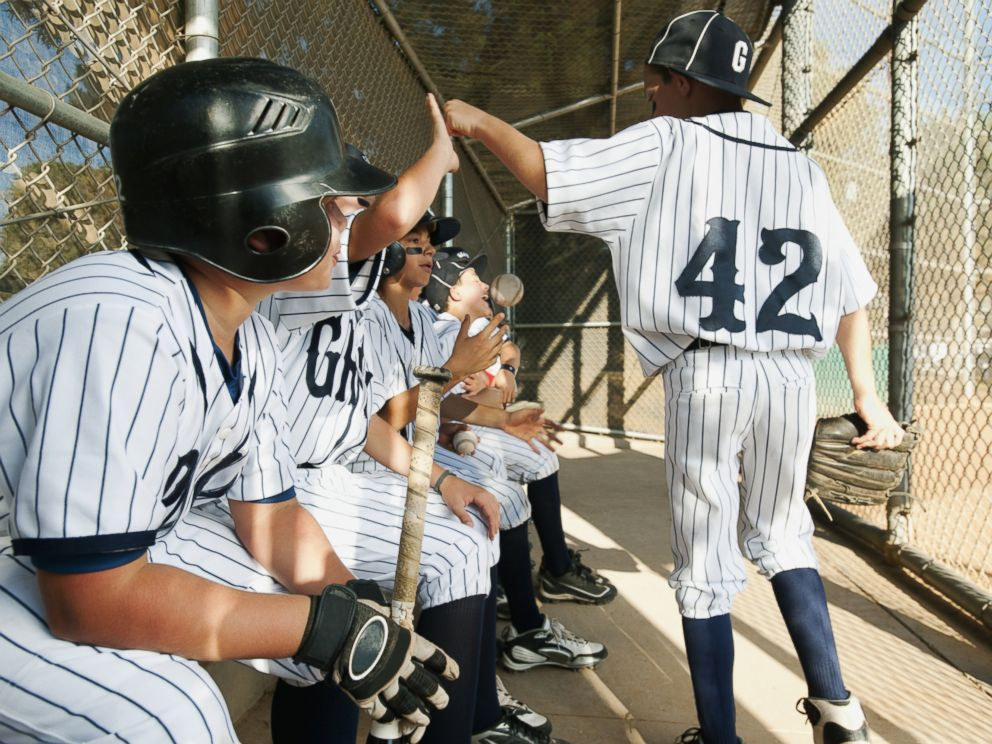 PHOTO: A Little League team sits in a dugout in this undated stock photo.