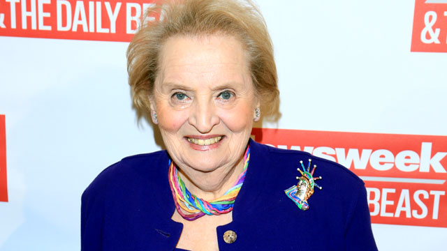PHOTO: Former Secretary of State Madeleine Albright attends The Daily Beast Bi-Partisan Inauguration Brunch at Cafe Milano, Jan. 20, 2013, in Washington.