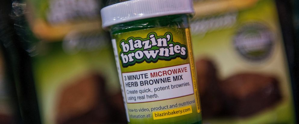 PHOTO: An instant brownie mix by Blazin Brownies sits on display during the Champs Trade Show in Las Vegas, Nevada, Jan. 21, 2014.