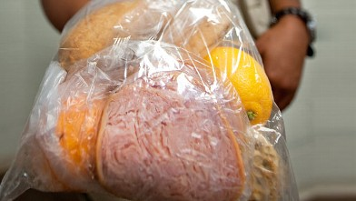 "PHOTO: A typical sack lunch for inmates at the ""tent city"" jail for misdemeanor offenders in Sheriff Joe Arpaio's custody in Phoenix, Arizona."