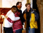 PHOTO: People hug outside of the Newtown United Methodist Church on December 14, 2012 in Newtown, Connecticut after twenty-seven people were killed, including 20 children, after a gunman opened fire in the Sandy Hook School in Newton.