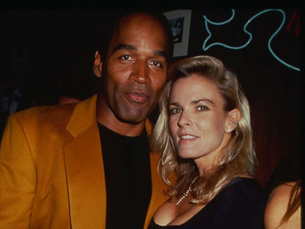 PHOTO: O.J. Simpson and his wife Nicole Brown Simpson attend a party at the Harley Davidson Cafe in New York City, circa 1993.