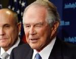 PHOTO: Conservative evangelical leader Pat Robertson announces his endorsement of former New York City Mayor Rudy Giuliani,  Nov. 7, 2007, in Washington.