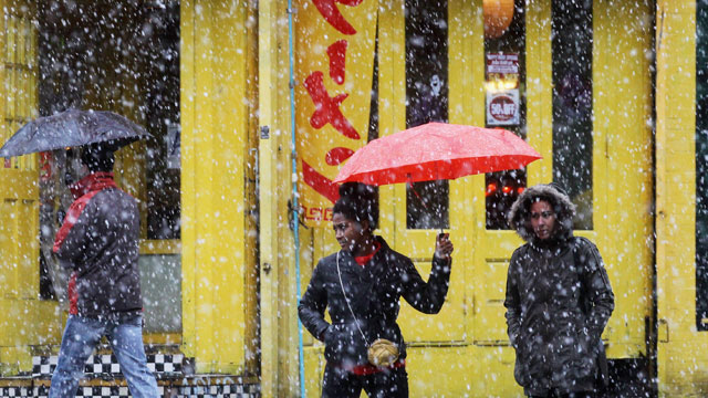PHOTO: Winter Storm: Noreaster Brings Snow, Rain to East Coast
