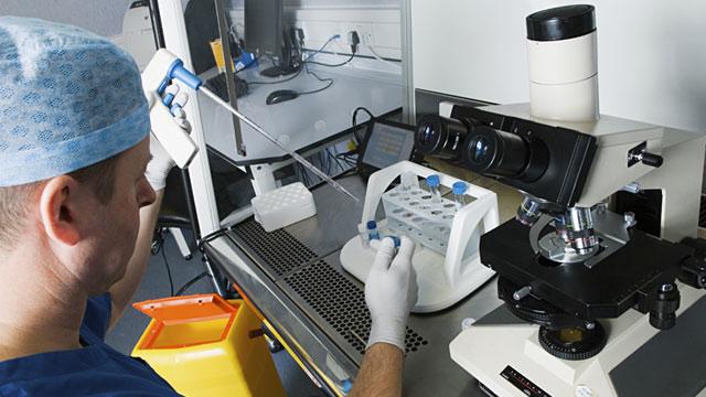 PHOTO: Sperm sample prep